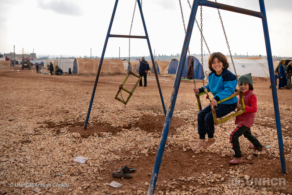 Syria. UNHCR continues to support displaced people from Afrin in rural Aleppo