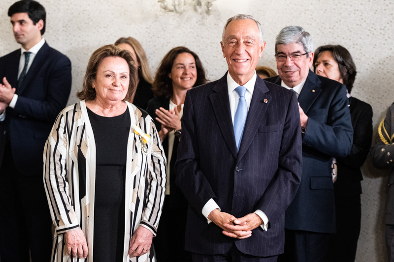 Maria Teresa Tito de Morais condecorada pelo Presidente da República
