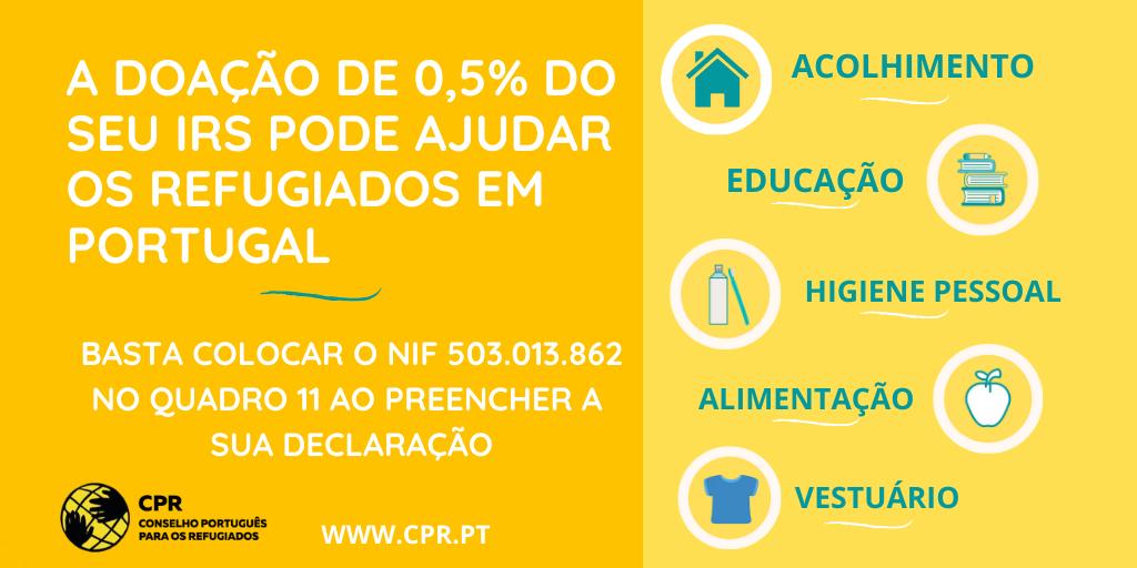 A doação de 0,5% de seu IRS pode ajudar os refugiados em Portugal