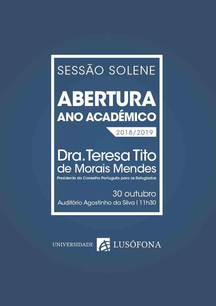 Sessão Solene de Abertura do Ano Académico – Universidade Lusófona