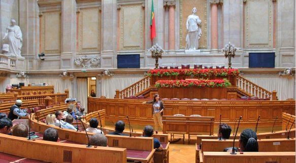 Visita à Assembleia da República
