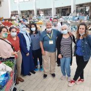 """Participants visit and shopping at """"Mercado de Arroios"""" as part of the Workshop on Sustainable Cooking, which took place on the 15, 16 and 18th of June 2021 in Lisbon, Portugal."""