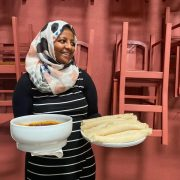 I., from Ethiopia, cooked Injera with a traditional meat stew as part of the Workshop on Sustainable Cooking, which took place on the 15, 16 and 18th of June 2021 in Lisbon, Portugal.