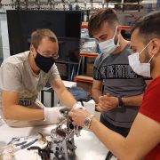Trainees learning about how to repair small household appliances, as part of the Workshop on Repair, which took place on the 5, 7 and 9th of July 2021 in Lisbon, Portugal.