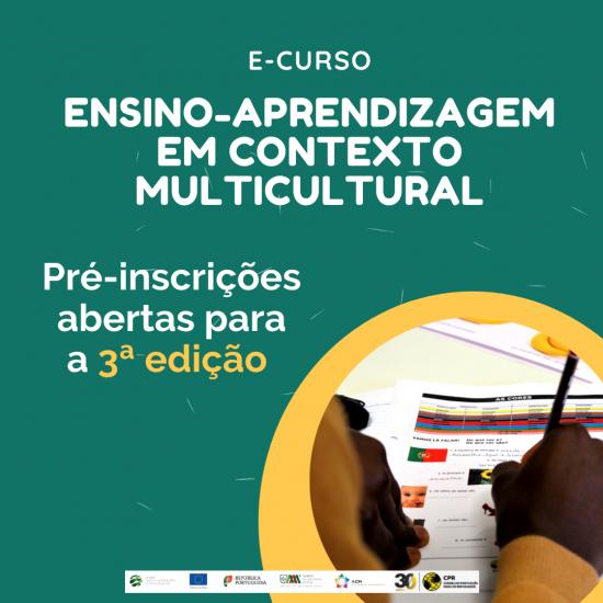 Pré-inscrições abertas para o curso Ensino-aprendizagem em Contextos Multiculturais