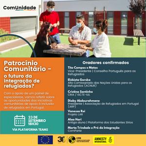 """CPR promove tertúlia online """"Patrocínio Comunitário – o futuro da integração de refugiados?"""""""